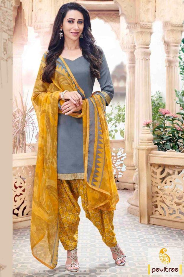 Get screen diva look by wearing this Karishma Kapoor special grey yellow punjabi patiala salwar suit online at lowest price in India. Purcahse it Now!#salwarkameez, #cottonsalwarkameez, #casualsalwarlameez, #printedsalwarkameez, #patialasalwarkameez, #churidarsalwarkameez, #discountoffer, #pavitraafashion, #utsavfashion http://www.pavitraa.in/store/patiala-salwar-suit/ callus:+91-7698234040