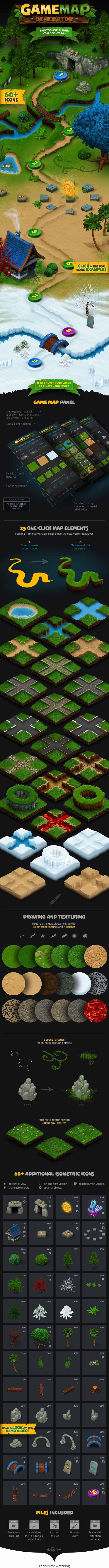 Game Map Generator   Build your own map or background for your game by using the Game Map Generator. Download now here: https://graphicriver.net/item/game-map-generator/17015466?ref=KlitVogli