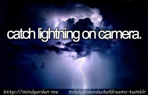 catch lightning on film