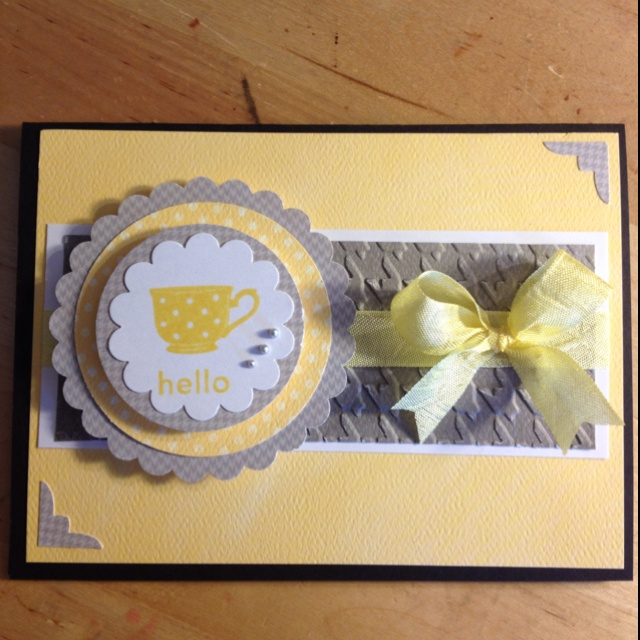 Handmade card featuring Stampin' Up