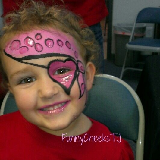 Girl Pirate face painting at a Fall Harvest festival by FunnyCheeksTJ  #FUMCDeSoto