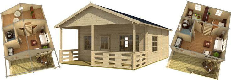 11 best ferienhaus aus holz images on pinterest cottage tiny cabins and wood. Black Bedroom Furniture Sets. Home Design Ideas