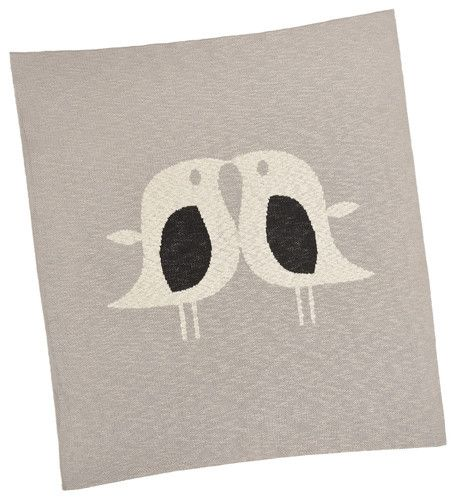 Made with care for little ones, Merben International soft natural Love Baby Blanket is both comforting and a lovely keepsake.