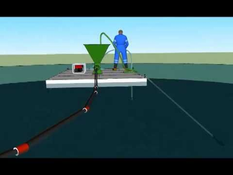 Извлечение донных илов на водоеме миниоборудованием