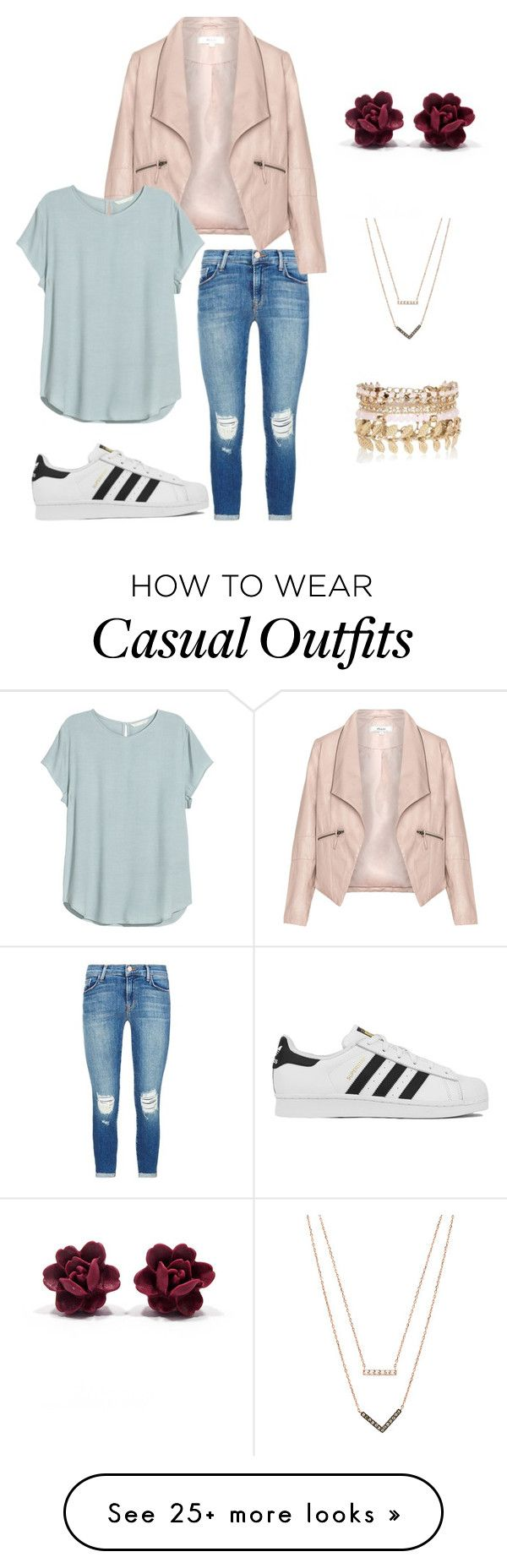 """Sport girls casual"" by ebrackett on Polyvore featuring J Brand, Zizzi, H&M, adidas, River Island, Michael Kors, women's clothing, women, female and woman"