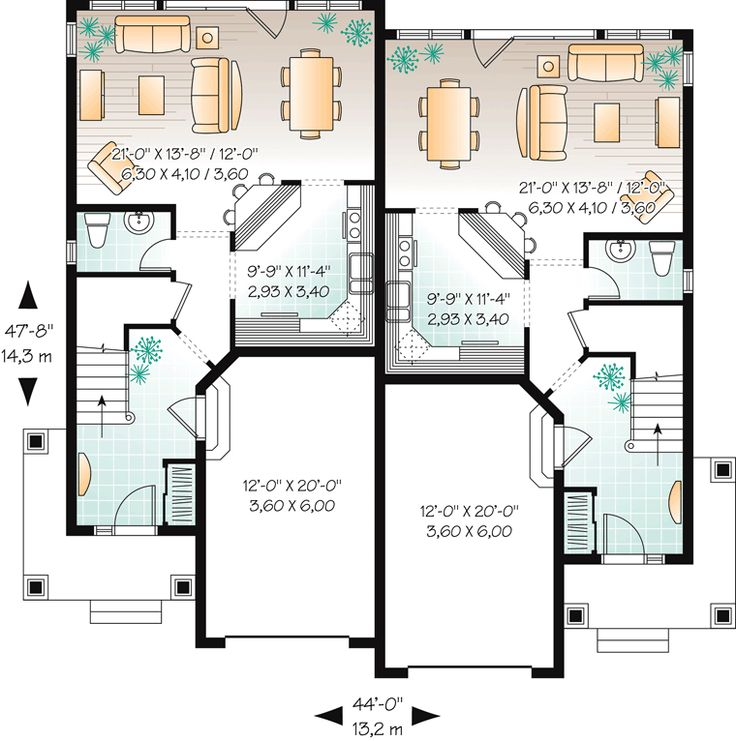 17 best images about condo duplex townhouse on pinterest Two family floor plans