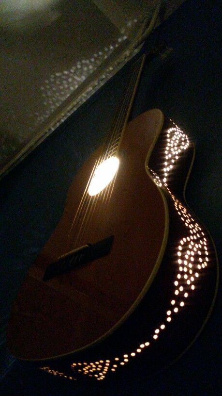My home made Guitar Lamp