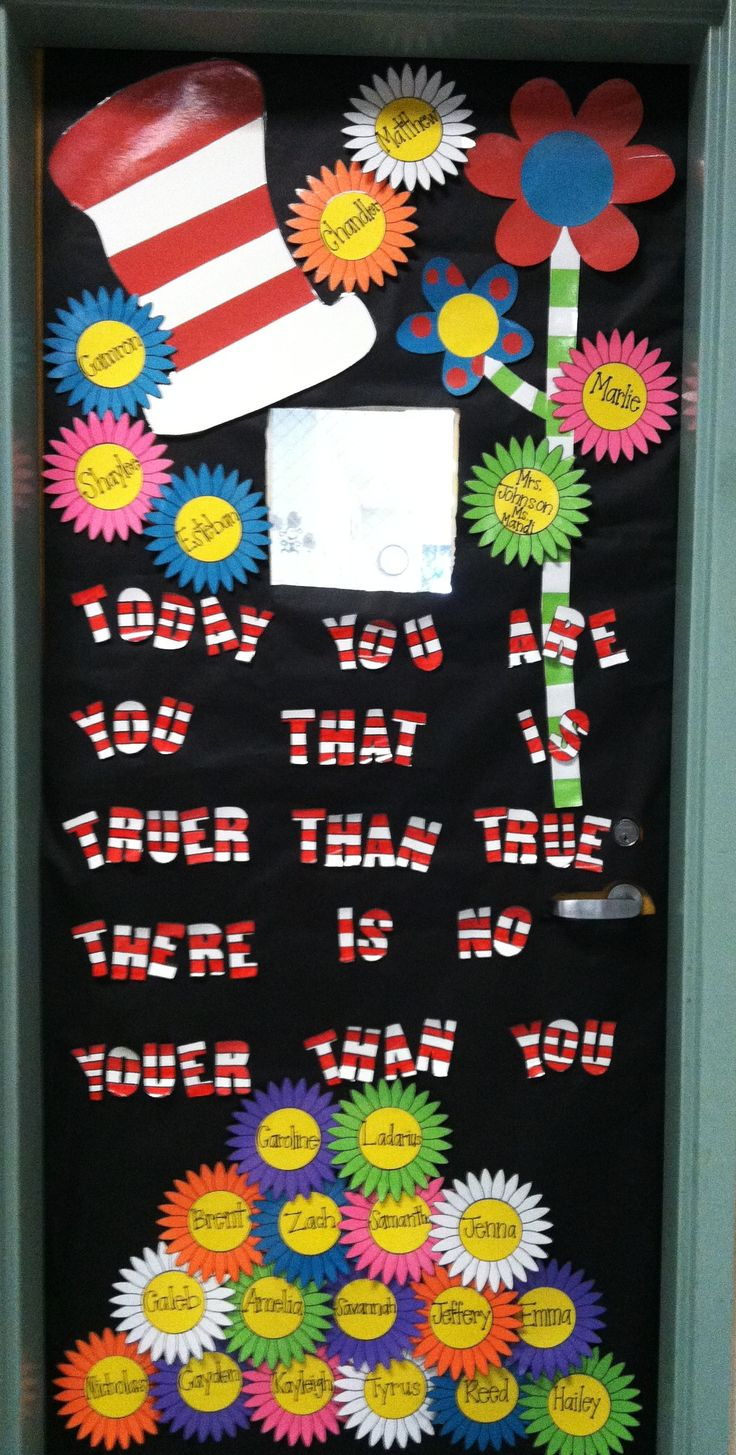 Happy Birthday Dr. Seuss: Our Cute Classroom Door Decor'