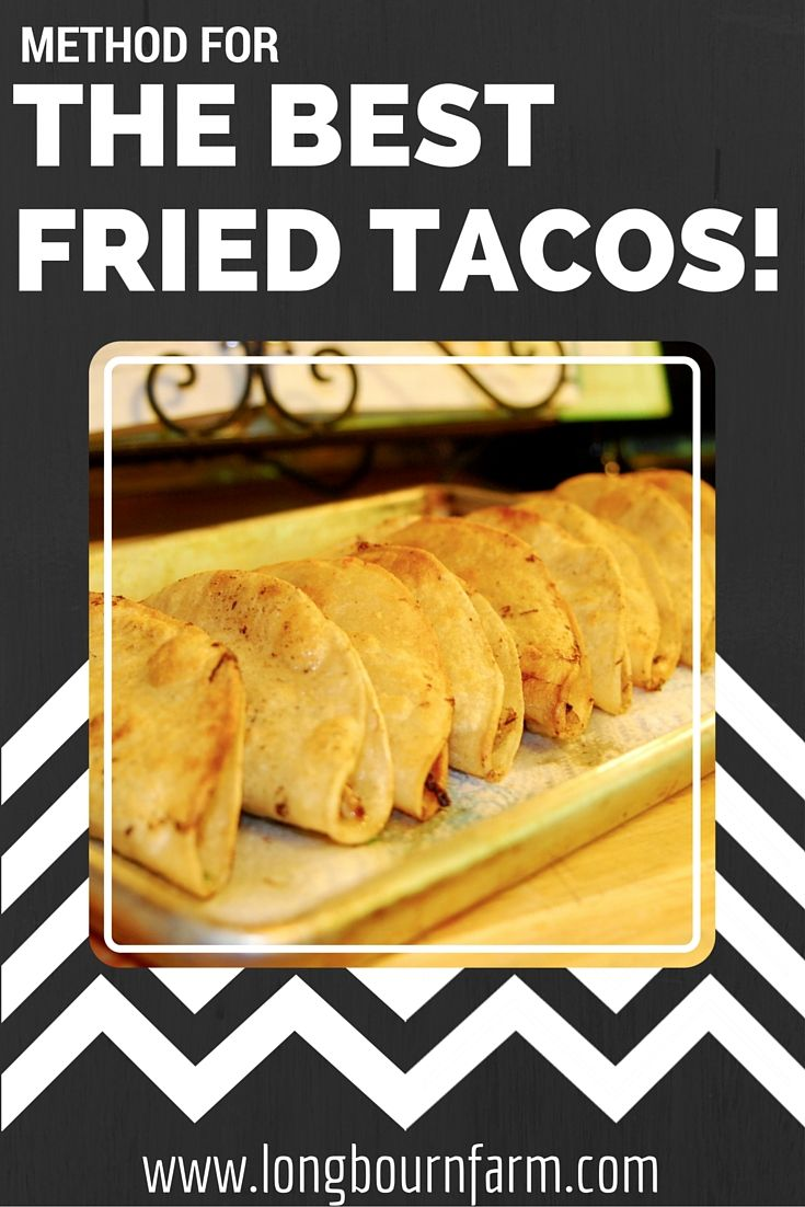 Learn the easiest method for homemade fried tacos! So good. #food #dinner…