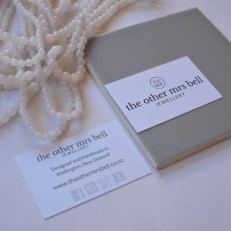 the other mrs bell Business Card with Snow Quartz