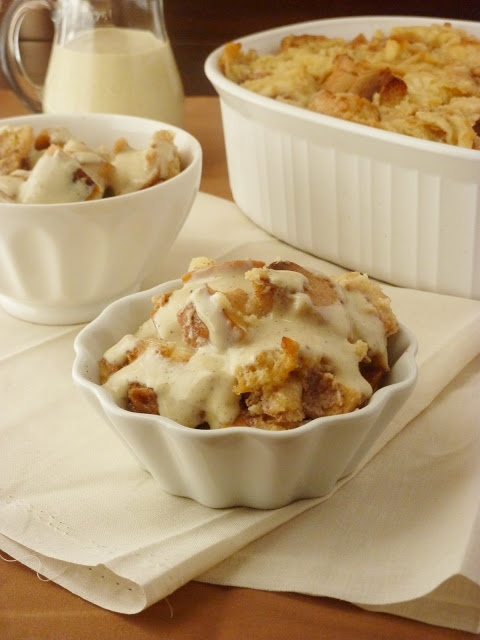 Apple Pie Bread Pudding...so good!   Add some pecans for added flavor. Serve warm topped with ice cream or whipped cream.