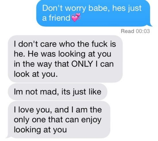 Haha my boyfriend isn't jealous, he's protective and I love him for it ahahah :P