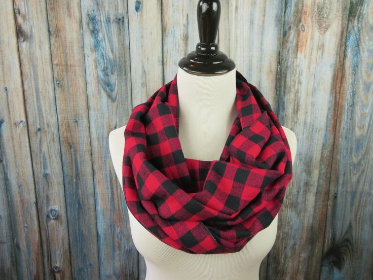 Red & Black Buffalo Check Scarf - Red Buffalo Plaid Scarf - Red Plaid Flannel Scarf - Red Plaid Infinity Scarf - Circle Scarf by OohBabyInfinity on Etsy https://www.etsy.com/listing/214787741/red-black-buffalo-check-scarf-red