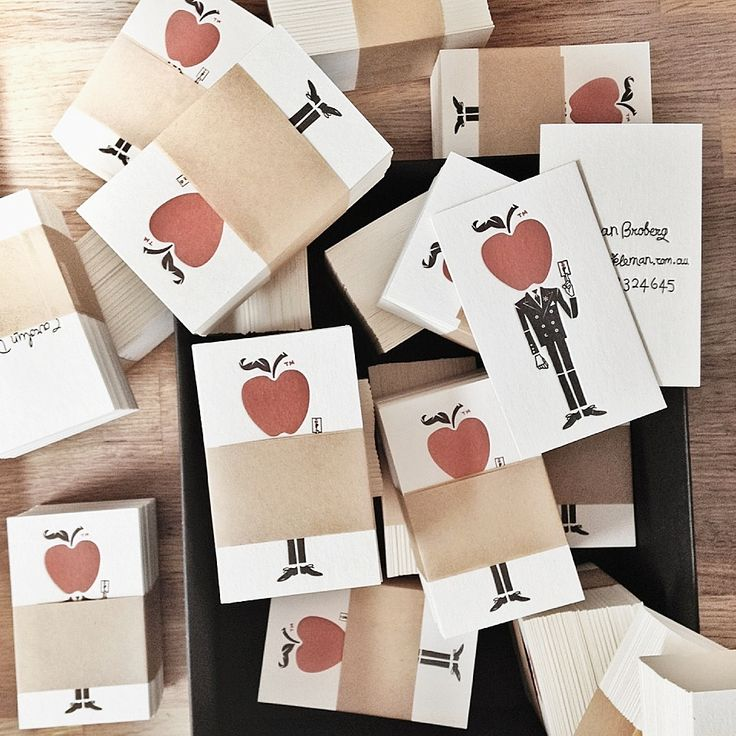 Appleman Cider business cards. Letterpress by The Collectors Room