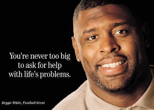Reggie White - what a man of God he was!  Also an awesome Green Bay Packer football player!