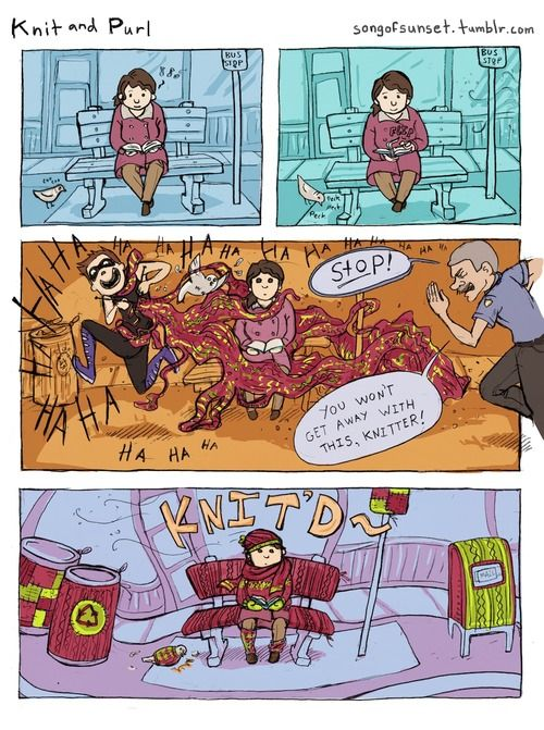 The Knitter and Purl comic. Part 1
