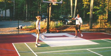 17 best images about basketball court backyard on for Diy sport court
