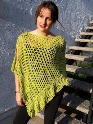 Free+Simple+Crochet+Poncho+Pattern   KID CROCHET PONCHO PATTERN   Easy Crochet Patterns