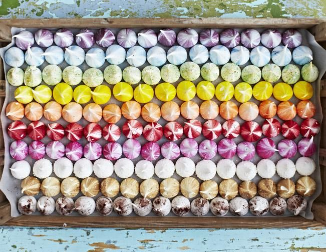 NEWS — INSYNC. Meringue Girls rainbow meringues