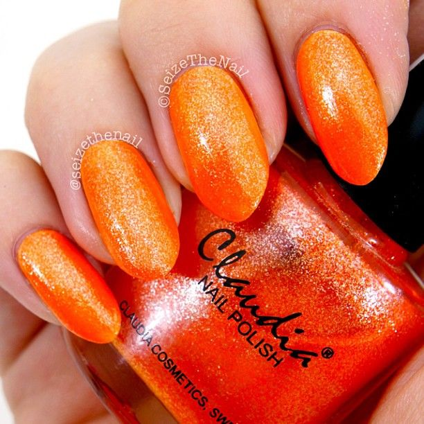 .@Erin Duncan Ritchey | Ooh! This is an orange glitter jelly. Two coats over white makes it very vibr... | Webstagram