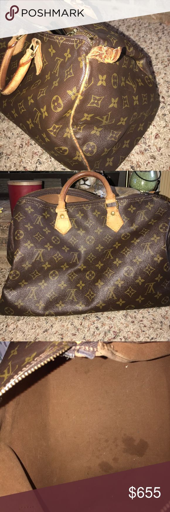 Louis Vuitton speedy 35 with shaper, lock, & key 100% authentic! will come with lock and key also will come with a shaper. Please consider I will only be making $520 on this price! This is a awesome deal for all four items! If you have any questions or concerns please ask! :) Louis Vuitton Bags Satchels