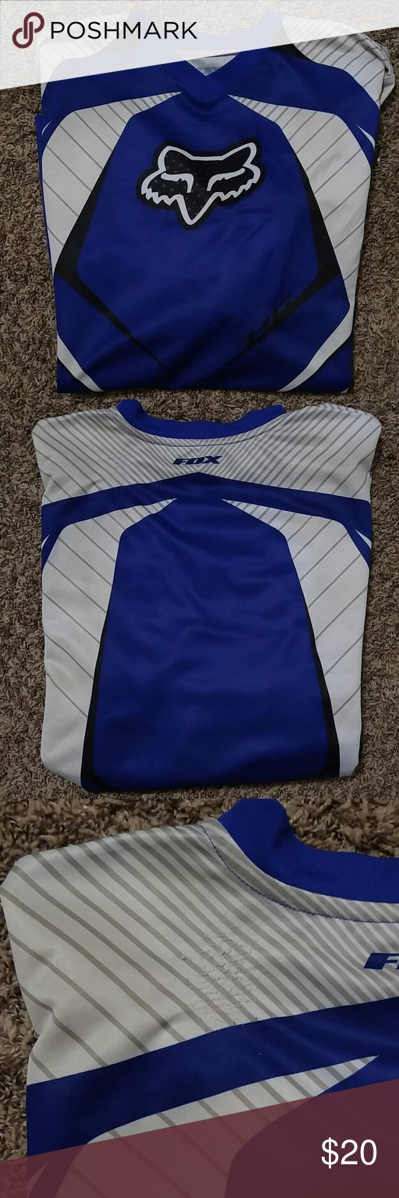 Fox Racing Jersey Used motorcross jersey.  Size M.  There are pull marks on this because of the shoulder pads and kidney belt worn.  Still in good condition.  He also wore this mountain biking. Fox Other