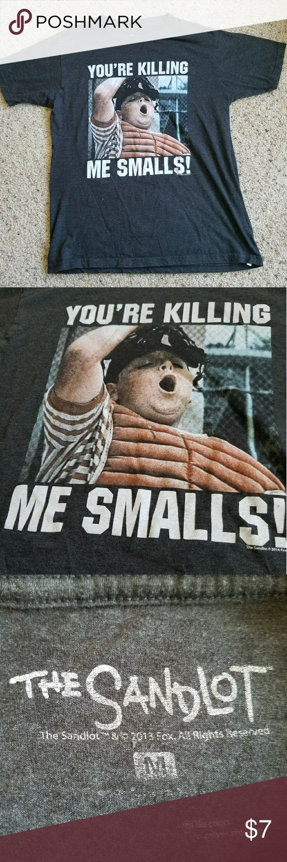 The Sandlot shirt gray size M A gray shirt with picture and quote from the movie Sandlot. This item has been gently used with no flaws The Sandlot Shirts Tees - Short Sleeve