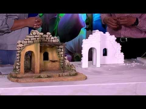 ARTE DE VIVIR-PROGRAMA-18-PESEBRES EN ICOPOR-PARTE 2/3- CANAL SONRIE TV 2015 - YouTube