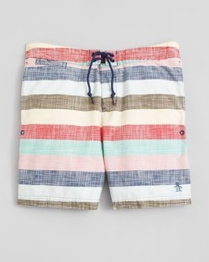 The Original Penguin - Striped Board Shorts