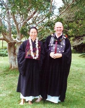 Rev. June Ryushin Tanoue and Rev. Robert Joshin Althouse in Kamuela on Big Island of Hawaii.