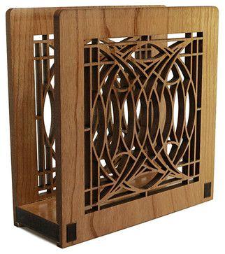 Frank Lloyd Wright Blossom House Napkin or Letter Holder - craftsman - Napkin Holders - Maclin Studio