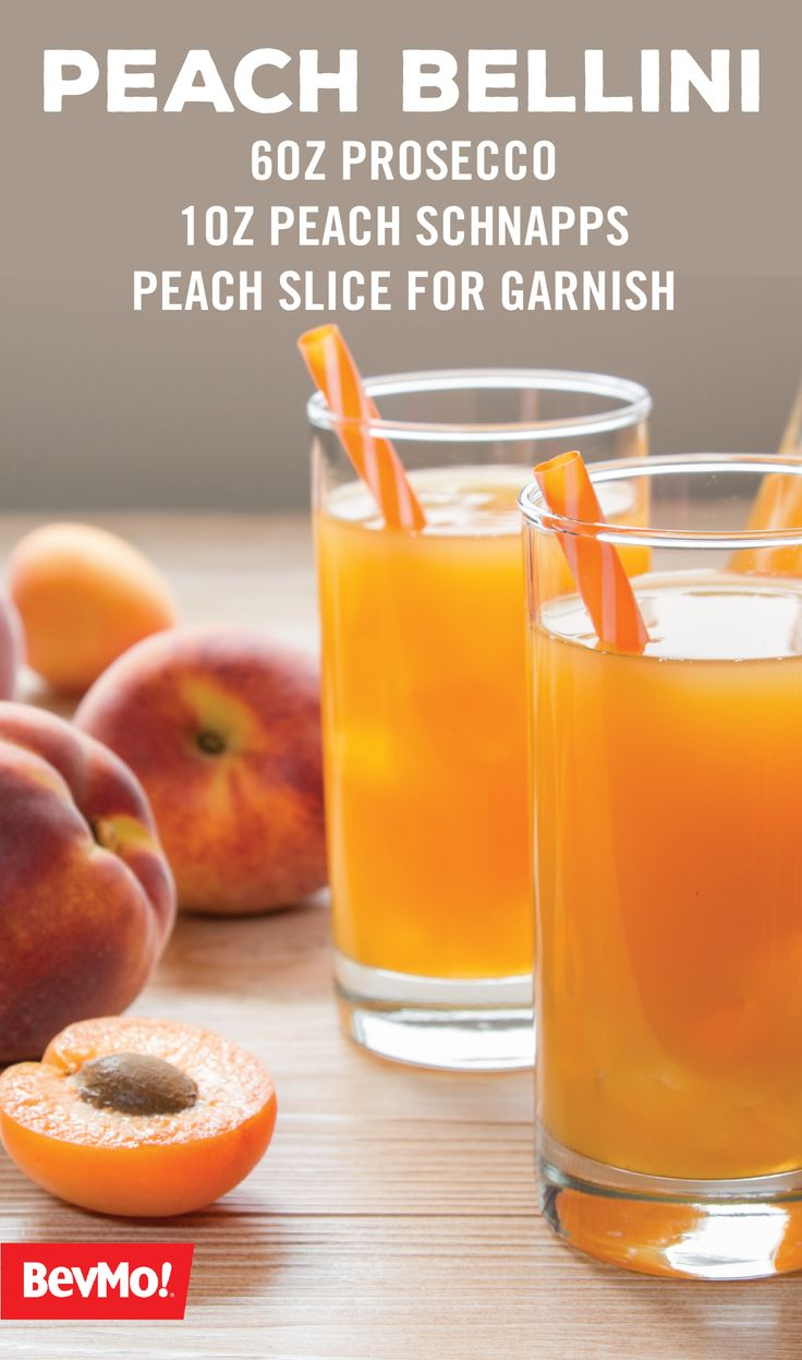 For us, this fruity blend of bubbly and berries makes this the perfect cocktail recipe for summer—one sip and we think you'll agree! All you'll need for this easy Peach Bellini is prosecco and peach schnapps from BevMo!