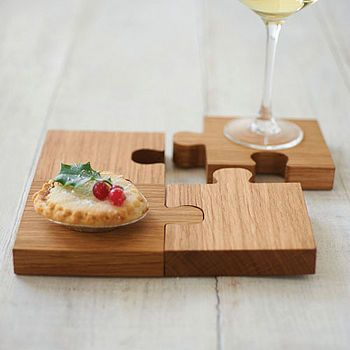 Chunky Jigsaw Coasters And Trivet by SquarePear Furniture