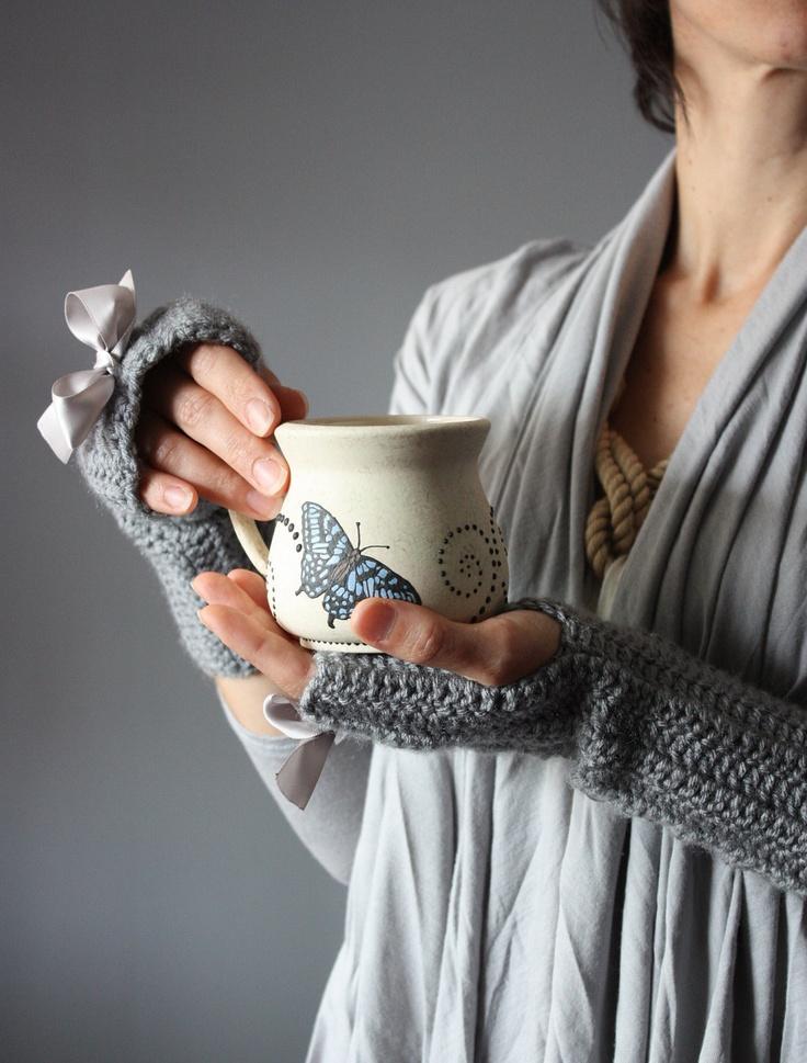 cozy fingerless gloves