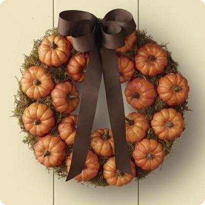 Pumpkin Wreath {Pumpkin Craft}