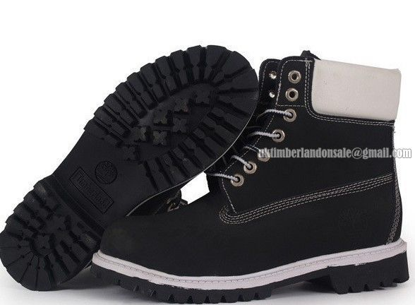 Cheap Timberland 6 Inch Waterproof Boot For Men Black White $ 80.00