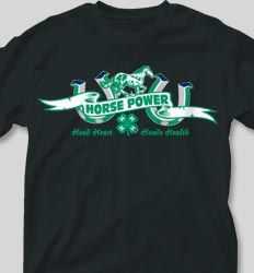IZA DESIGN custom 4H shirts.  4-H Club Shirt Design - Double Pride desn-265d2.  Specializing in custom 4 H tshirts since 1987!