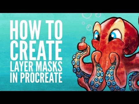 How To Create Layer Masks In Procreate - YouTube