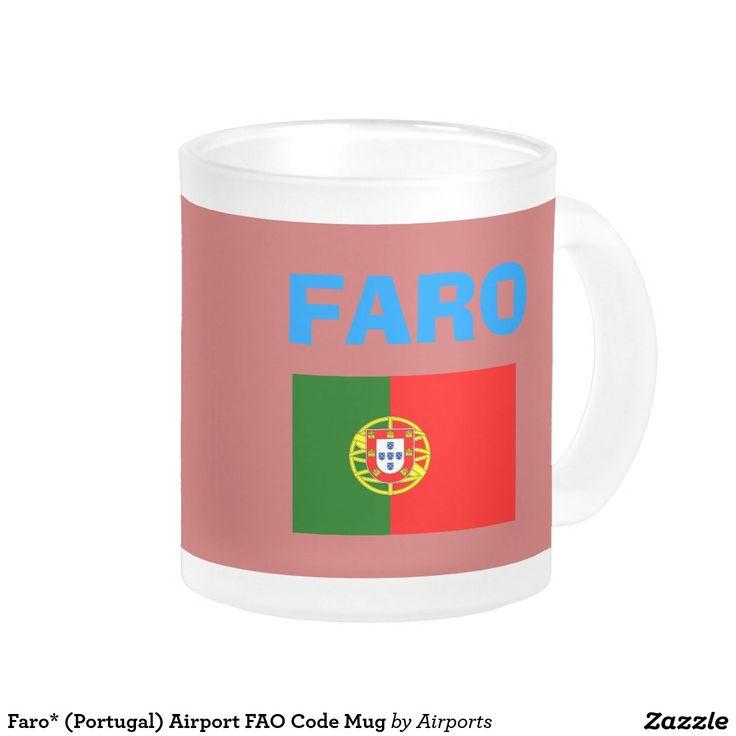 Faro* (Portugal) Airport FAO Code Mug