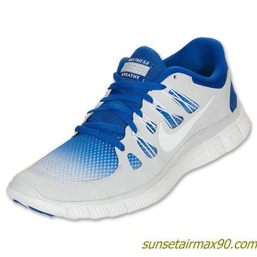 Breathe Nike Free 50 Mens Hyper Blue Pure Platinum White 579960 410.  Chaussures De CourseCourse ...