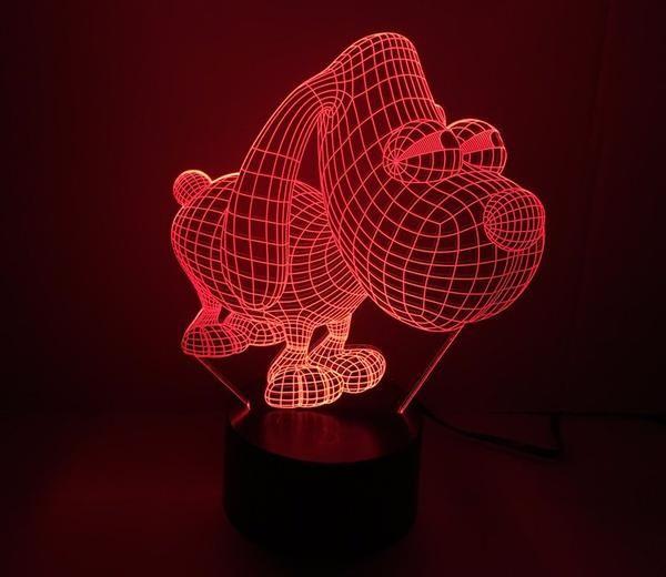 New Awesome Dog Night Light Lamp
