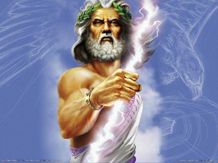 Zeus (Spreek uit: Zuis Oudgrieks: Ζεύς, genitivus Διός of Ζηνος) is een figuur in de Griekse mythologie. Hij is de oppergod, die heerste vanaf de berg Olympus. Hij was een zoon van Kronos (Lat. Saturnus) en Rheia, twee van de twaalf Titanen, de machtige zonen en dochters van Ouranos, de hemelgod. Kronos was de opvolger van Ouranos. Het equivalent van Zeus in de Romeinse godsdienst is Jupiter.
