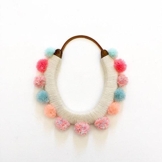 A soft take on a statement necklace. #etsyjewelry
