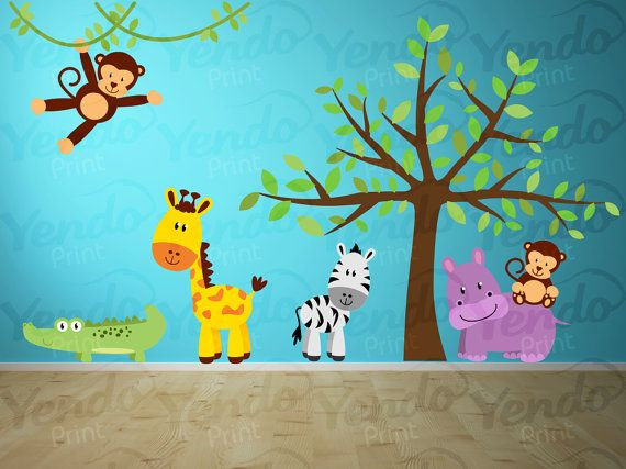 Best Wall Decals Images On Pinterest Kids Wall Decals - Kids wall decals jungle