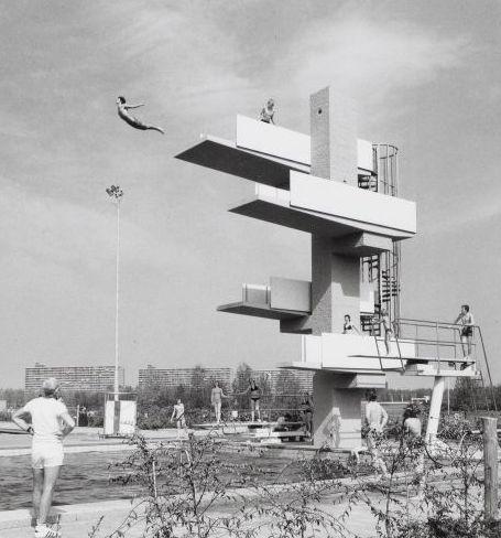 Amsterdam, Sloterparkbad (buiten-springtoren) jaren 70/80