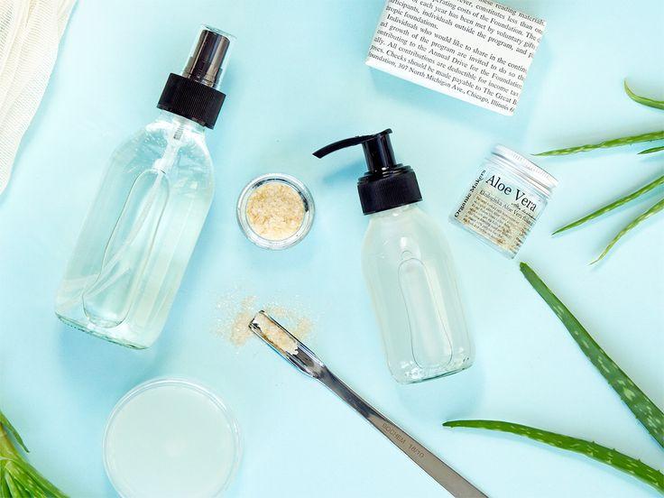 Gör din egen ekologiska Aloe Vera-gel, Aloe Vera-spray eller Aloe Vera-dryck!