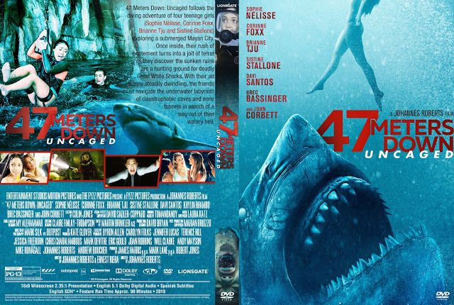 47 Meters Down Uncaged Dvd Cover Dvd Covers Custom Dvd Dvd