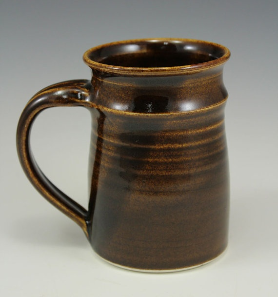 Albany Golden Brown Porcelain Coffee Mug 10 oz Webb by webbpottery, $20.00