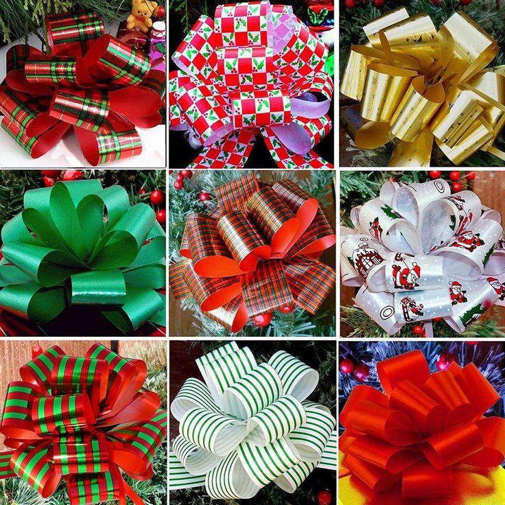 Christmas Gift Pull Bows Set of 9, Xmas Gifts Holiday Decoration Wedding Decor  #GiftWrapEtc #AnyOccasion