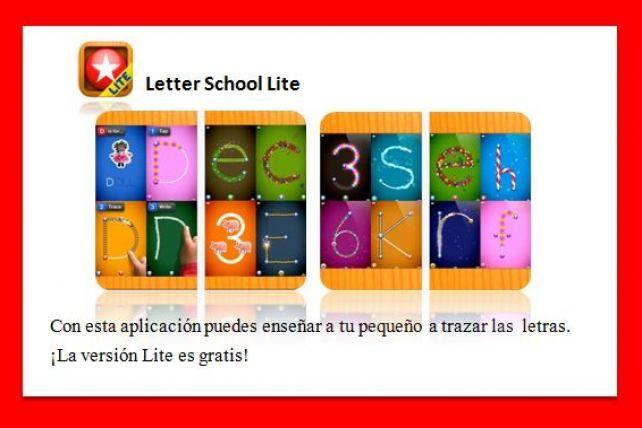 Letter School Lite es una app que ayuda en el trazo de las letras a los pequeños.